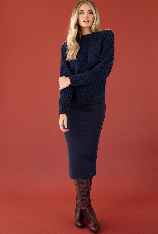 пуловер с пуговицами Navy вяжиру