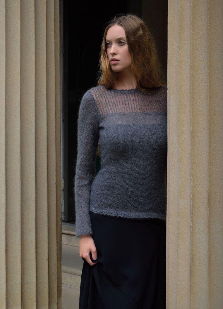 пуловер из мохера Ponder вяжиру