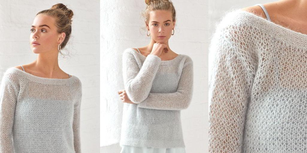 пуловер со спущенным плечом Blur вяжиру