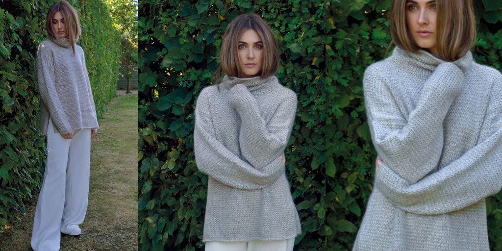 свитер оверсайз Blond вяжиру