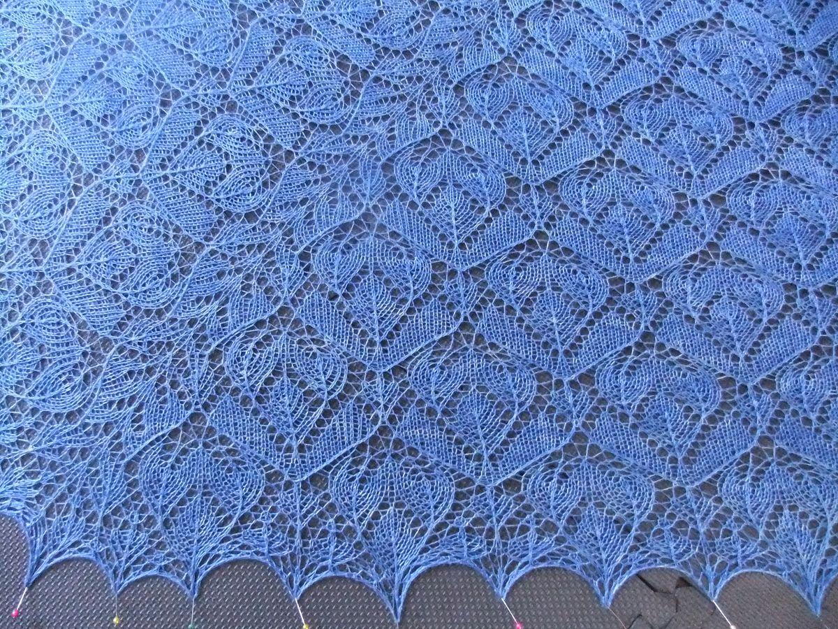 Ажурные узоры платков схемы