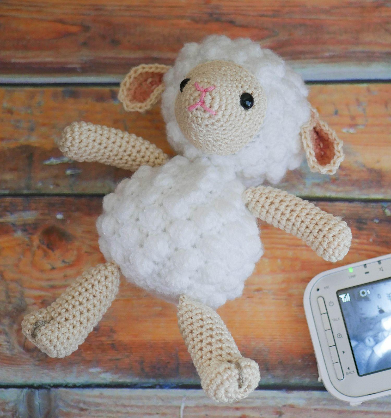 вязаная крючком овечка, схема