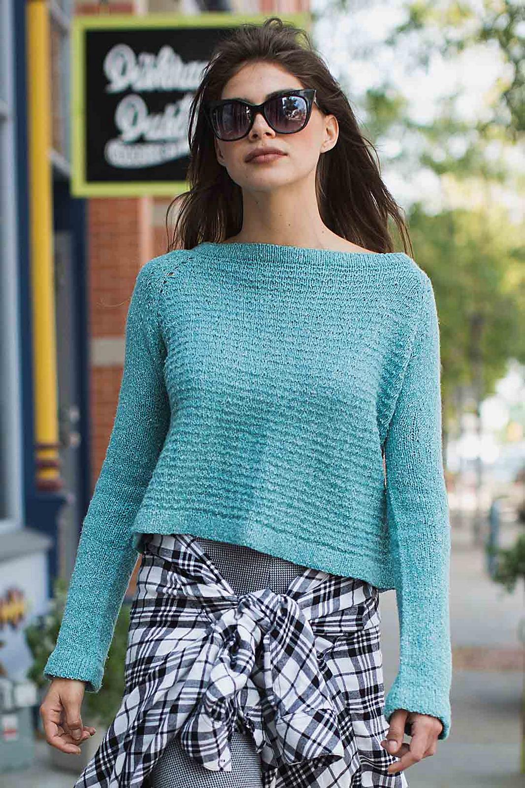 Вяжем укороченный пуловер
