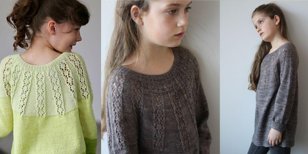 Вязание спицами пуловера девочке