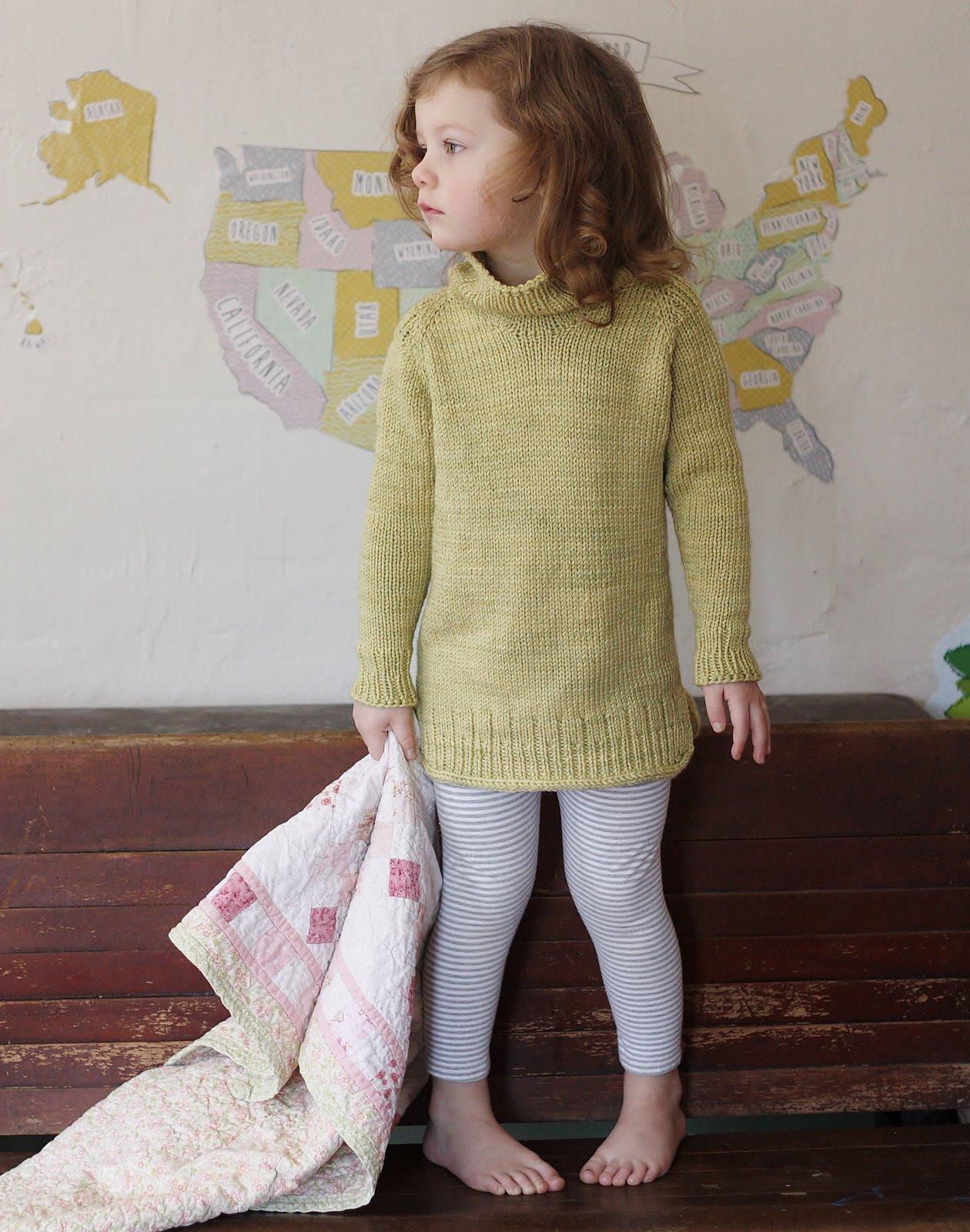 Вязание детского свитера спицами сверху
