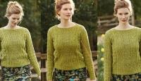 Пуловер с ажурными косами Daffodil