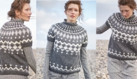 Пуловер круглой кокеткой Nyla
