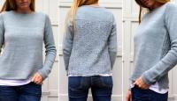 Пуловер с ажурной спинкой Eyre