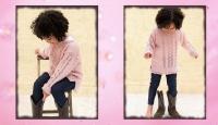 Детская туника спицами с описанием Powder Zigzag