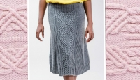Женская вязаная юбка