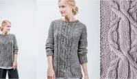 Пуловер спицами связанный сверху