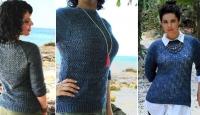 Пуловер регланом спицами Abisko
