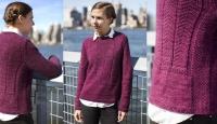 Пуловер разными узорами Corvina