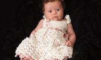 Платье крючком для девочек Красавица Саванна