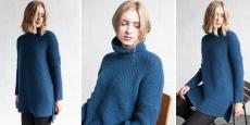 Модный свитер спицами Mos из коллекции осень-зима 2016