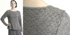 Пуловер узором из обёрнутых петель Steel Creek