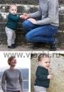Простой пуловер реглан спицами сверху вниз для малышей и взрослых