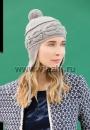 Женская шапка с ушками с описанием и схемами
