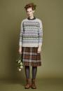 Жаккардовый пуловер спицами Sorrel с кружевной отделкой крючком