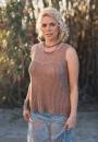 Вязание спицами для женщин ажурной майки