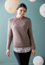 Вязание пуловера Shifted Eyelet Yoke