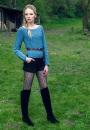Вязание пуловера Acacia, Esquel, Луиза Хардинг