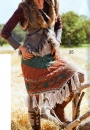 Вязание юбки с бахромой, StrickTrend, 2012