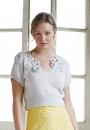 Вязание топа Eloisa, Rowan Knitting & Crochet Magazine 57