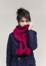 Длинный шарф и шаль Skyland с помпонами