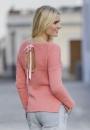 Пуловер с вырезом на спине  Лето в Париже