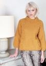 Вязание пуловера Bobble and Cable