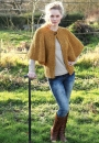 Вязание жакета Cape Sleeve, Sian Brown