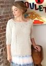 Пуловер Graziella с ажурными дорожками