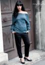 Вязание пуловера Lace reglan top