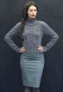 Вязание спицами для женщин пуловера Falaise