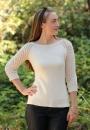 Пуловер реглан Deodara с ажурными рукавами