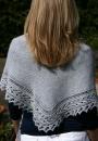 Вязаная треугольная шаль Ava