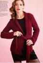 Вязание кардигана Belted, Vogue Holiday 2014