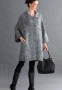 Вязаное пальто Cocoon
