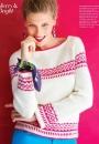 Вязание пуловера Modern Fair Isle Raglan