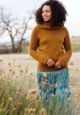 Вязание пуловера Cowl-Neck Raglan, Isabel Kraemer