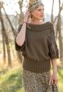 Вязание пуловера Falling Leaves Pullover, Elena Nodel