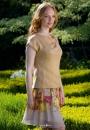 Вязание топа Auriel, The Knitter 74