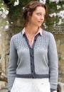 Вязание кардигана Glentress, The Knitter 75