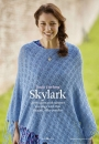 Элегантное шелковистое кружевное пончо Skylark