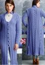 Вязание пальто Long Cabled, Vogue fall 2014