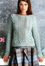 Вязание пуловера Fretwork, Vogue fall 2014