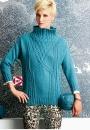 Вязание пуловера Funnel-Neck, Vogue fall 2014