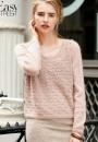 Вязание пуловера Lacy, Vogue зима 2014-2015
