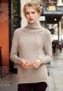 Вязание пуловера Cabled, Vogue зима 2014-2015